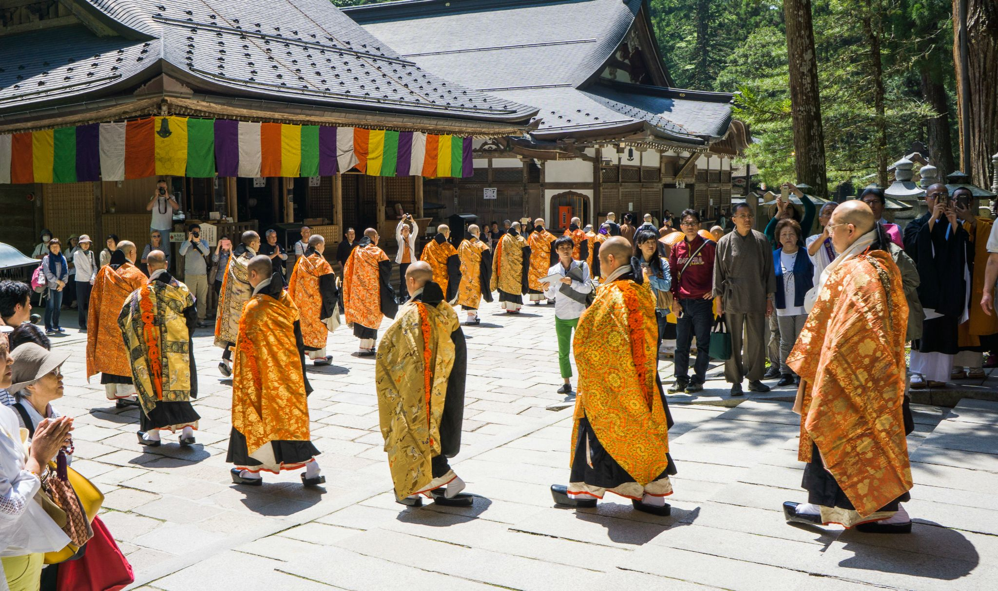 Monks in action, Mt Koya