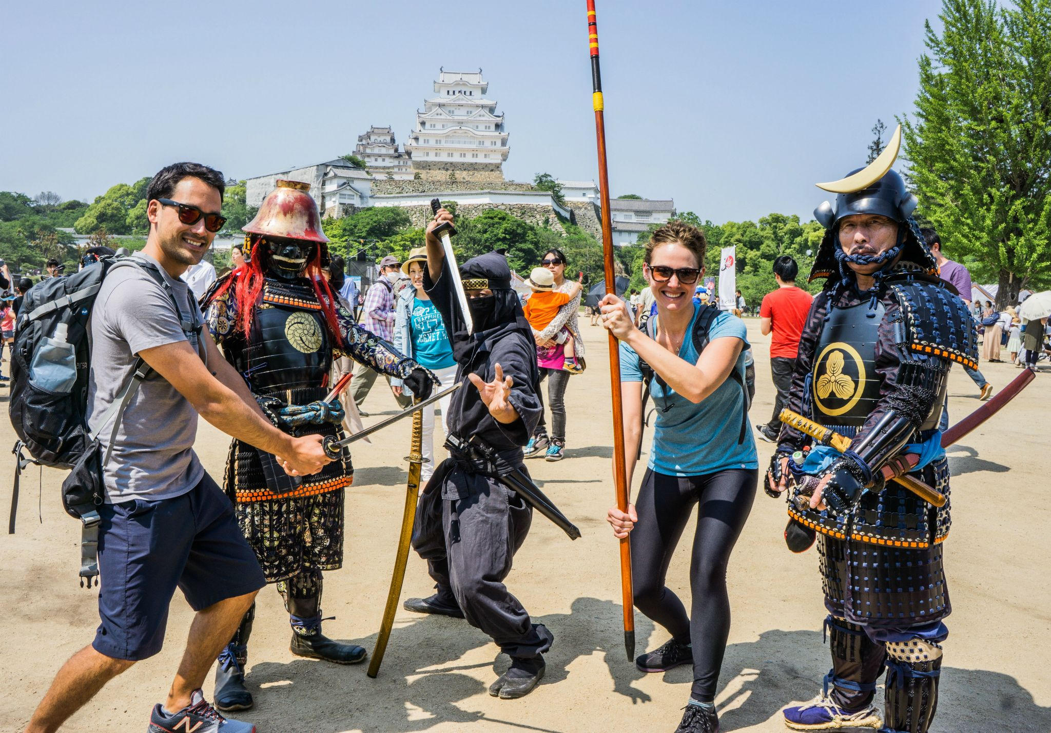 Having fun near Himeji Castle