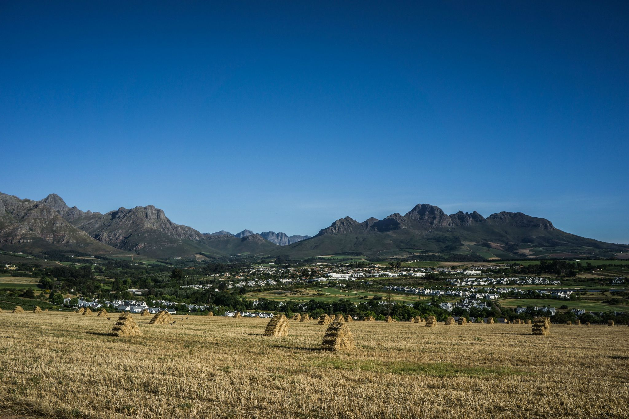 View from our room at the FREE Protea Marriott Stellenbosch